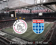 AFC Ajax vs PEC Zwolle